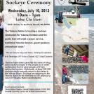 Sockeye Ceremony, July 10, 2013 at Lake Cle Elum