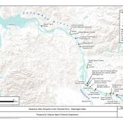 Map of Prioriety Sites in the Lower Columbia River